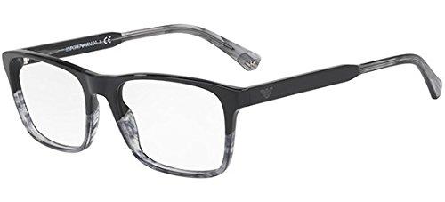 Eyeglasses Emporio Armani EA 3120 5566 BLACK/TR STRIPED - Armani Eyeglasses Frame Emporio