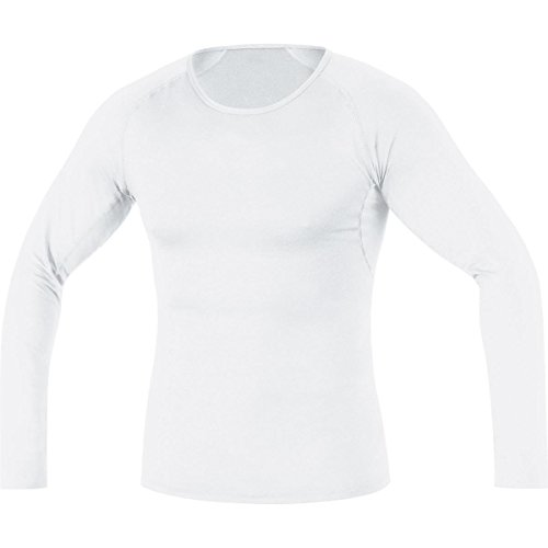 (Gore Bike WEAR Men's Base Layer Shirt Long, White, X-Large)
