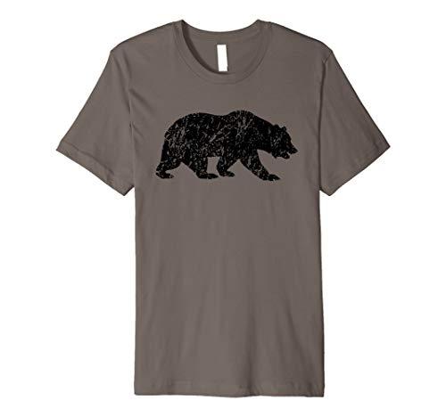 Distressed Bear Shirt / Vintage Bear Silhouette T-shirt