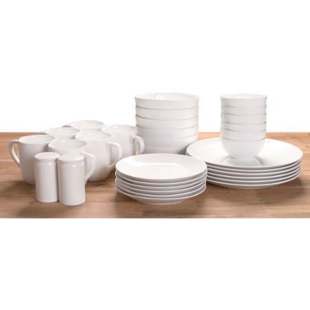 Durable And Multi Purposed 32-Piece Dinnerware Set, White
