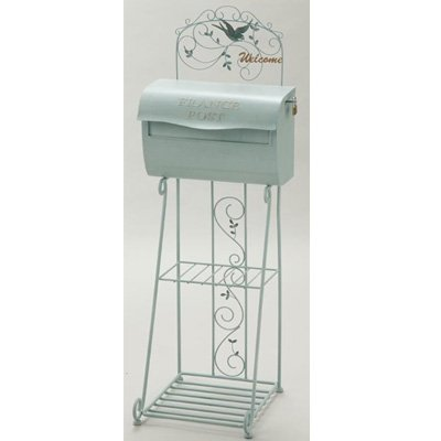 Comolife French style Garden mail box stand , Padlock x 1 by Comolife
