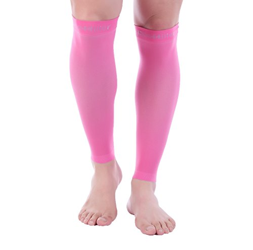 Doc Miller Premium Calf Compression Sleeve 1 Pair 20-30mmHg Strong Calf Support Graduated Pressure for Sports Running Muscle Recovery Shin Splints Varicose Veins (Pink, 3X-Large) (Best Sites To Sell Nudes)