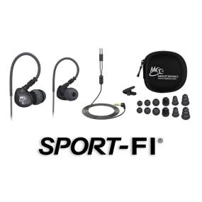 M6 Sports Headphones with Memory Wire for Locked-in Fit