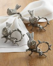 Song Bird Napkin Rings by Vagabond House (Image #2)