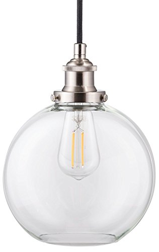 Primo LED Industrial Kitchen Pendant Light – Brushed Nickel Hanging Fixture – Linea di Liara LL-P429-LED-BN Review