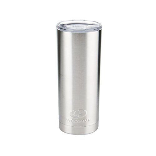 Mossy Oak Double Wall Stainless Steel Insulated Tumbler, 20 oz, Silver