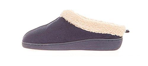 661463dc7fb Seranoma Women s Faux Fur Comfort Slip On Memory Foam Indoor Clog House  Slippers Navy