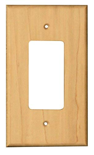 Traditional Rocker Outlet Cover in Soft Maple - Dimensions: 5 3/8 x 3 1/8 inches