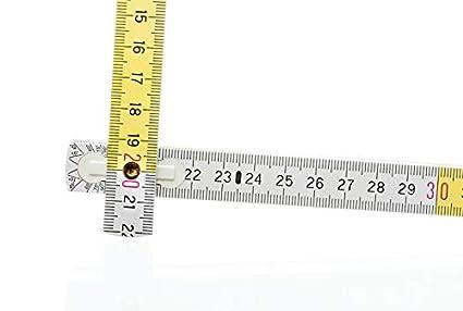 Ma/ßstab - 2m Meterstab Gliederma/ßstab 10x Zollstock weiss-gelb B-Ware