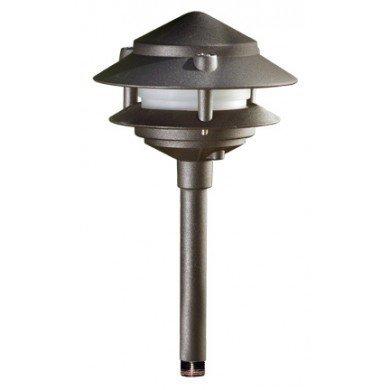 Dabmar Lighting LV102S-BZ Cast Aluminum Two Tier Pagoda Light, (Pagoda Two Light)