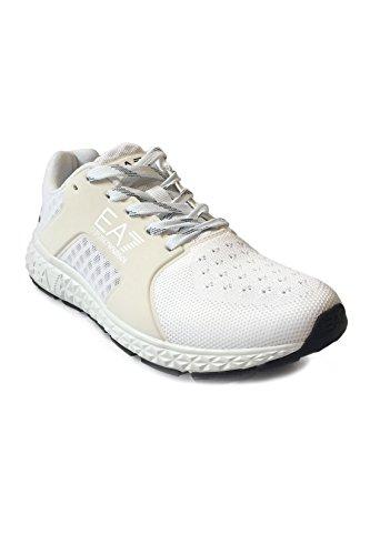 Ea7 Emporio Armani Donna Sneaker Bassa C2 Light Spirit U - Scarpe Da Ginnastica Leggere, Scarpe Da Ginnastica, Sneakers In Mesh Design - Bianco