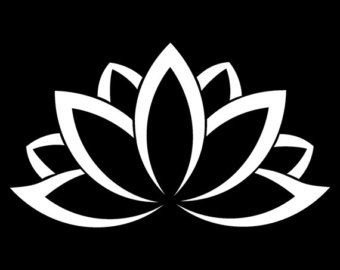 Lotus Flower Decal Vinyl Sticker|Cars Trucks Vans Walls Lapt