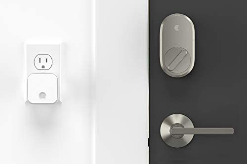 August Smart Lock + Connect Wi-Fi Brige, Satin Nickel, Works with Alexa. Keyless Home Entry from Anywhere. 315dZlQeXFL
