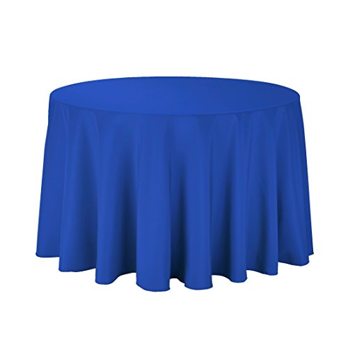 Craft and Party - 10 pcs Round Tablecloth for Home, Party, Wedding or Restaurant Use. (Royal Blue, 108'' Round) by Craft & Party (Image #1)'