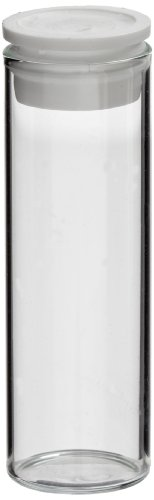 Shell Vials (Kimble TITESEAL 60831D-1544 Borosilicate Glass Cylindrical Clear Shell Vial with White Polyethylene Plug Style Needle Closure, 4ml Capacity (Case of 2000))