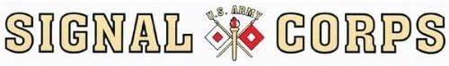 ARMY 15 inch Window Strip ARMY Outside Decal SIGNAL CORPS U.S