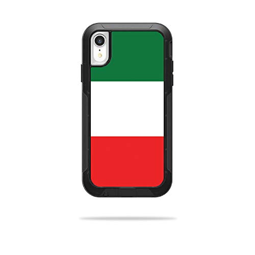 MightySkins Skin Compatible with OtterBox Pursuit iPhone XR Case - Italian Flag | Protective, Durable, and Unique Vinyl Decal wrap Cover | Easy to Apply, Remove, and Change Styles | Made in The USA
