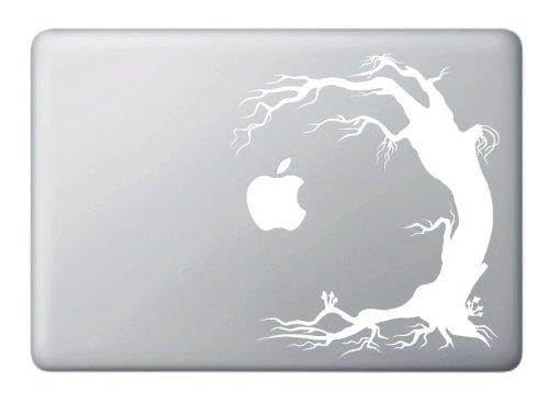 Trippy Tree with Mushrooms Toadstools - Spooky Goth Halloween Tree - Vinyl Macbook Laptop Decal (7.25