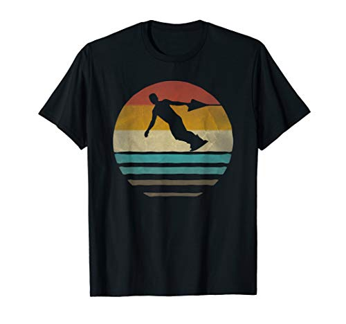 Wakeboarding Retro Vintage Sunset Old School Funny Gift T-Shirt