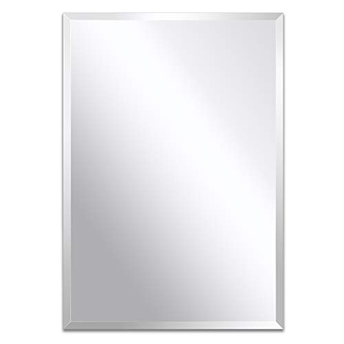 Frameless Mirror for Bathroom, Vanity, Living Room, Bedroom (Rectangle 20