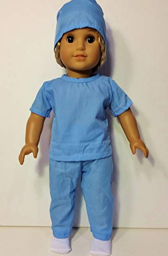 260f520c33e Amazon.com: 8 Piece Nurse, Doctor, Scrubs Doll Clothes and Medical Kit fits  18 Inch American Girl Doll: Toys & Games