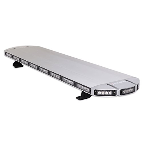 """ThunderEye 48"""" Inch (Amber/White) Low Profile Roof Mount Snow Plow Truck Vehicle Strobe LED Light Bar - New Controller"""