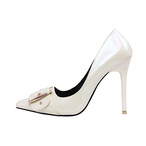 Cybling Mode Dames Puntschoen Naaldhak Jurk Pompen Voor Bruiloft Feestschoenen Wit