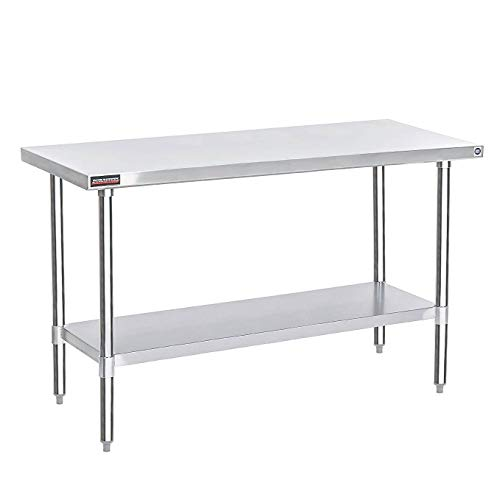 DuraSteel Stainless Steel Work Table 30 x 72 x 34 Height - Food Prep Commercial Grade Worktable - NSF Certified - Fits for use in Restaurant, Business, Warehouse, Home, Kitchen, Garage