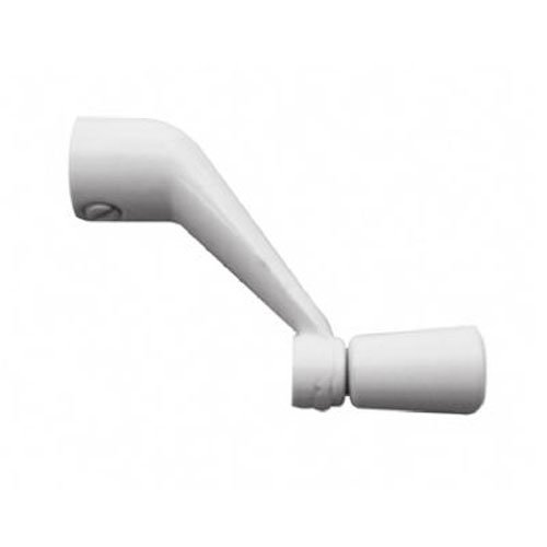 Prime-Line Products 17240-2-W Casement Operator Crank Handle, 3/8-Inch Bore, White - Casement Window Handles