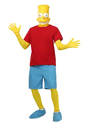 Adult Bart Simpson Costume - (Simpsons Fancy Dress Costumes)