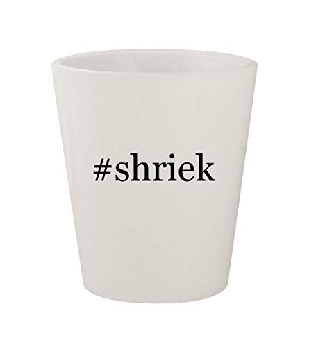 Price comparison product image #shriek - Ceramic White Hashtag 1.5oz Shot Glass