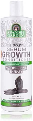 Spanish Garden Hair Growth Conditioner   Ascorbic Hair Therapy with Organic oils, Natural Vitamins, and Herbal Extracts   For Slow Growing Hair, 16 oz