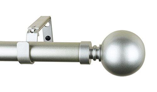Meriville 1-Inch Diameter Ball Single Window Treatment Curtain Rod (28