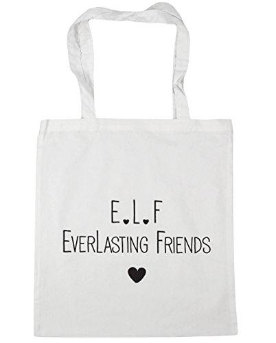 f litres friends x38cm Shopping l HippoWarehouse Bag Tote everlasting Beach White e 42cm Gym 10 OwISZZqEx