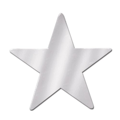 Beistle 55837-S 72-Piece Foil Star Cutouts, -