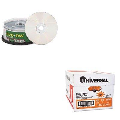 KITUNV21200VER94834 - Value Kit - Verbatim DVDRW Discs (VER94834) and Universal Copy Paper (UNV21200) by Verbatim