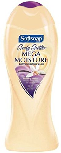 Softsoap Body Butter Mega Moisture Body Hydrating Wash Heavenly Vanilla 15 oz (Pack of 9) (Heavenly Wash)