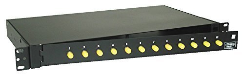 Hubbell HUBFPR012STM Rackmount Panel with 12 ST Simplex, Fiber, 12 Port, Phosphor Bronze by Hubbell