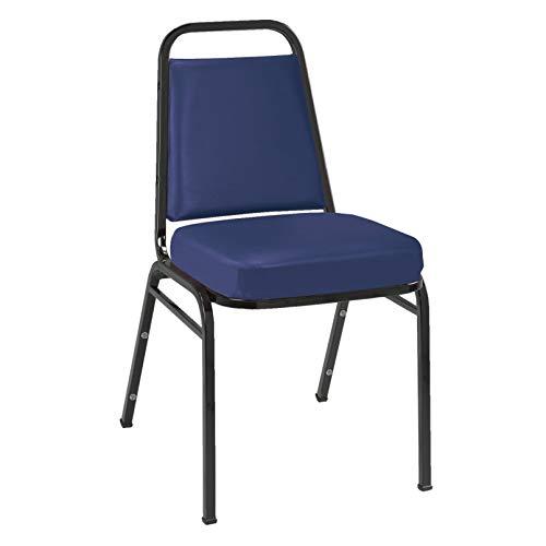 - KFI Seating IM820 Armless Stacking Chair, Commercial Grade, 2-Inch, Navy Vinyl/Black Frame
