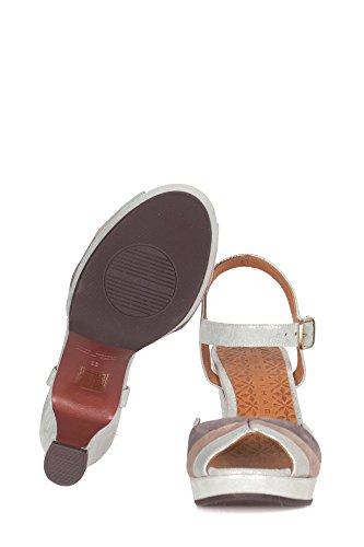 Chie Mihara Dame Editapbianco Grau Leider Sandaal