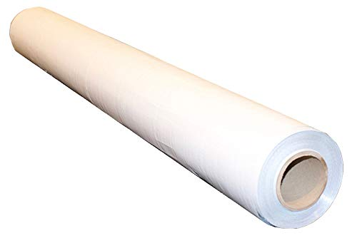 1000sqft NASATECH (6 Mil Reinforced Scrim) White/Foil (Waterproof) Vapor Barrier 4ft x 250ft Encapsulation Pier Wrap Crawlspace (White/Foil) Solid Super Strong Reinforced Scrim