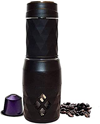 GJJSZ Cápsula de cafetera portátil - Mini máquina de café Espresso - Operada a Mano sin Necesidad de