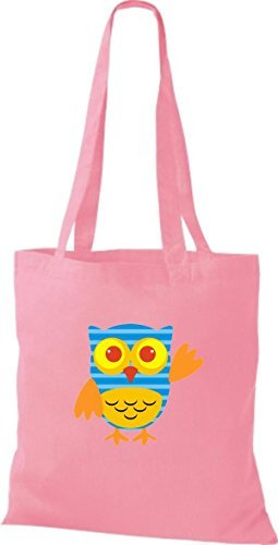 Shirtinstyle - Cotton Fabric Bag For Women Pink - Pink