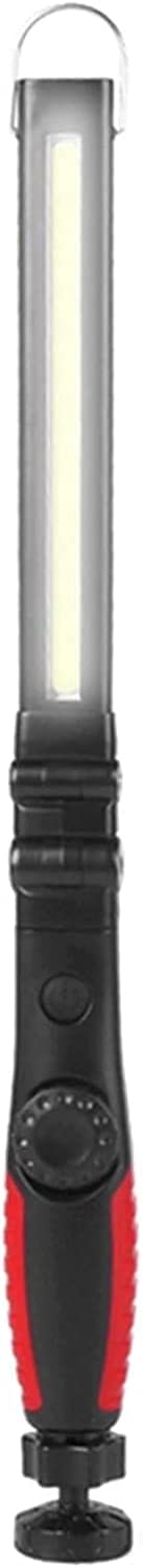 Ghongrm Rechargeable LED Work Light Foldable LED Flashlight Cordless Portable Magnetic COB LED Work Lights Inspection Light for Garage Outdoor Spotlight (Emitting Color : 1 pcs red)