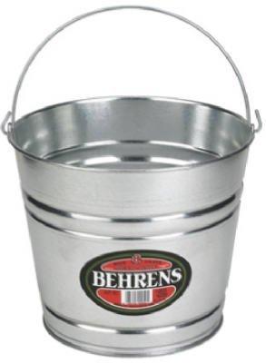 Behrens High Grade Steel 1208GS 8 Qt Silver Galvanized Steel Pail