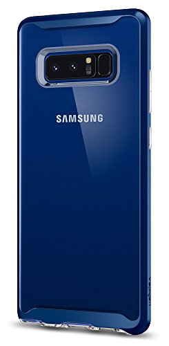 Spigen Neo Hybrid Crystal Galaxy Note 8 Case with Clear Hard Casing and Reinforced Hard Bumper Frame for Galaxy Note 8 (2017) - Deep Sea Blue