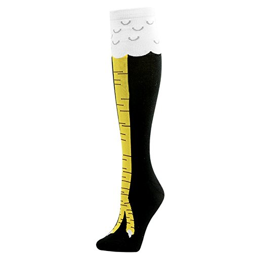 Gmark Women's Fun Chicken Legs Image Stockings Novelty Socks Black 1 Pack Size Large ()