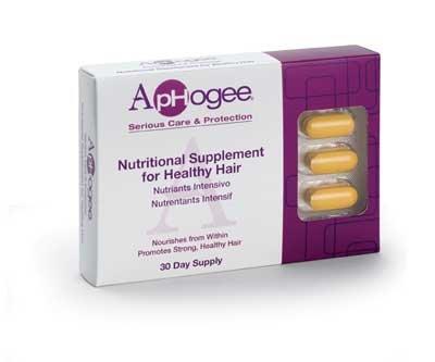 ApHogee supplément de vitamine pour les cheveux sains 30 comprimés
