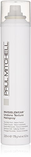 - Paul Mitchell INVISIBLEWEAR Undone Texture Hairspray,6.3 oz