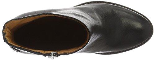 Shabbies Amsterdam 13cm Zipbooty 9cm Heel Leather Sole Lean, Zapatillas de Estar por Casa para Mujer Negro - negro